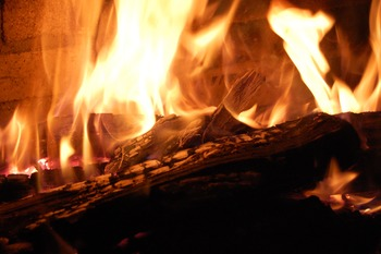 Stock Photo: Fire/Fireplace -Personal & Commercial Use