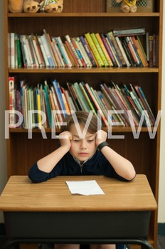 Stock Photo Styled Image:Frustrated/Discouraged Student-Pe