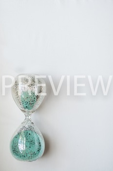 Stock Photo: Glass Sand Timer #2 -Personal & Commercial Use