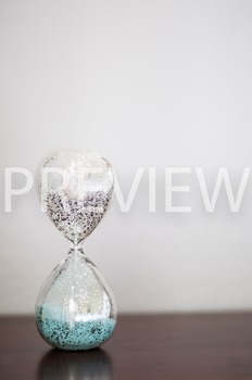 Stock Photo: Glass Sand Timer #4 -Personal & Commercial Use