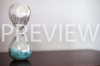 Stock Photo: Glass Sand Timer #5 -Personal & Commercial Use