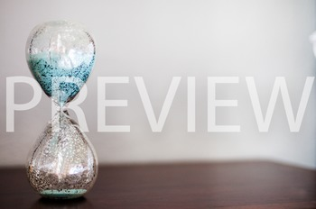 Stock Photo: Glass Sand Timer #6 -Personal & Commercial Use