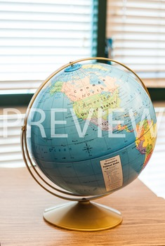 Stock Photo: World Desk Globe #3 -Personal & Commercial Use