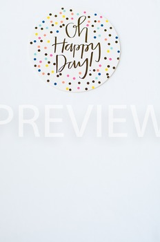 Stock Photo Styled Image: Happy Day Coaster #2 -Personal &