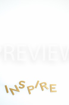 """Stock Photo Styled Image:""""Inspire"""" #2 in Gold Letters -Per"""