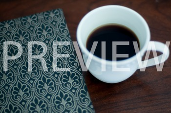 Stock Photo: Journal/Notebook & Coffee Mug #1 -Personal & Commercial Use