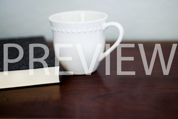 Stock Photo: Journal/Notebook & Coffee Mug #3-Personal & Commercial Use