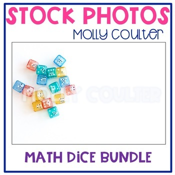 BUNDLE Stock Photo: Math Dice Bundle -Personal & Commercial Use