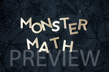 "Stock Photo: ""Monster Math"" #1 Words -Personal & Commercial Use"