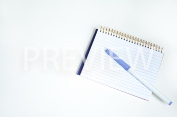 Stock Photo: Notepad & Marker #1-Personal & Commercial Use