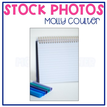 Stock Photo: Blank Notepad & Markers #2 -Personal & Commercial Use