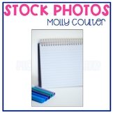 Stock Photo: Blank Notepad & Markers #2 -Personal & Commer