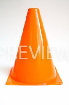 Stock Photo: Orange Construction/Safety Cone -Personal & Commercial Use