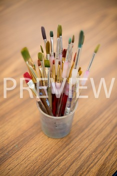 Stock Photo: Colorful Art Paintbrushes #2 -Personal & Comm