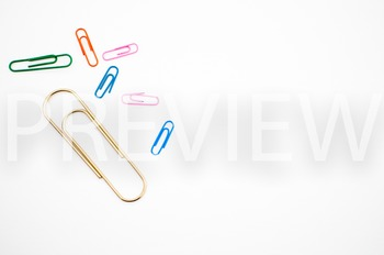 Stock Photo Styled Image: Paperclips #1 -Personal & Commercial Use