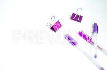 Stock Photo: Purple Desk Supplies BUNDLE-Personal & Commercial Use