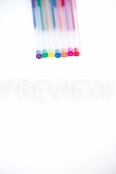 Stock Photo: Gel Pens -Personal & Commercial Use