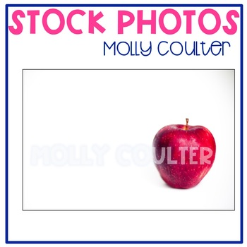 Stock Photo Styled Image: Red Apple -Personal & Commercial Use