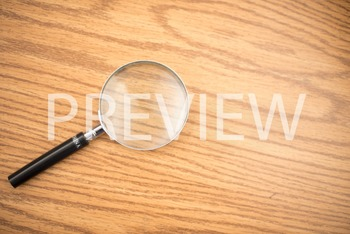 Stock Photo: Science Magnifying Glass -Personal & Commercial Use