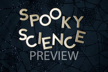 "Stock Photo Styled Image: ""Spooky Science"" Words #2-Person"