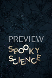 """Stock Photo Styled Image: """"Spooky Science"""" Words #3-Personal & Commercial Use"""