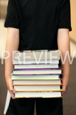 Stock Photo: Stack of Library Books -Personal & Commercial Use