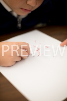 Stock Photo:Student Erasing Mistakes #2-Personal & Commercial Use