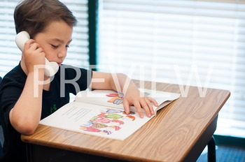 Stock Photo: Student Reading & Fluency Phone #11 -Personal