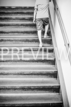 Stock Photo Styled Image: Student on Stairs #3 -Personal &