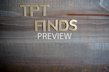 "Stock Photo Styled Image: ""TPT Finds"" in Gold Letters -Per"