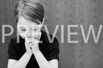 Stock Photo: Thinking Student B&W-Personal & Commercial Use