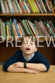 Stock Photo: Tired Student -Personal & Commercial Use