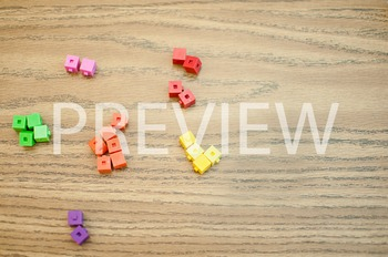 Stock Photo: Math Unifix Cubes #5 -Personal & Commercial Use