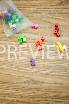 Stock Photo: Math Unifix Cubes #6 -Personal & Commercial Use