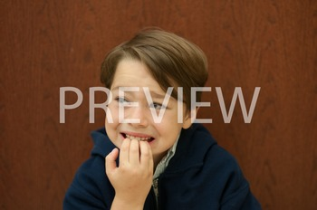 Stock Photo: Worried Student -Personal & Commercial Use