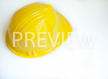 Stock Photo: Yellow Construction/Safety Hat -Personal & Commercial Use