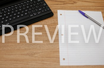Stock Photo: iPad & Paper -Personal & Commercial Use