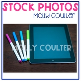 Stock Photo: iPad and Markers -Personal & Commercial Use