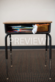 Stock Photo: Unorganized Desk-Personal & Commercial Use