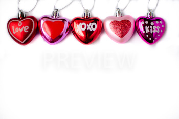 Stock Photo: Valentine Heart Ornaments -Personal & Commercial Use