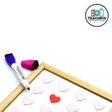 Stock Photo: Valentine's Day Dry Erase Board