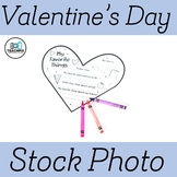 Stock Photo: Valentine's Day My Favorite Things