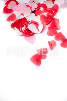 Stock Photo: Valentine's Heart Confetti -Personal & Commercial Use