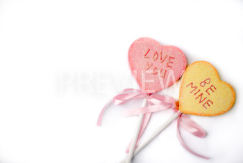 Stock Photo: Valentines Be Mine/ Love You Hearts -Personal & Commercial Use