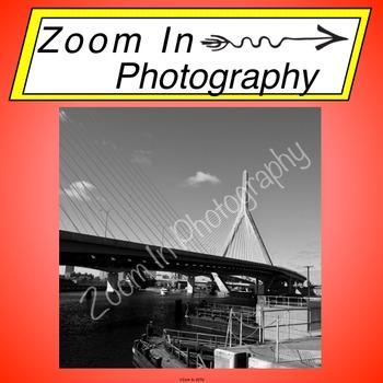 Stock Photo: Zakim Bridge in Boston