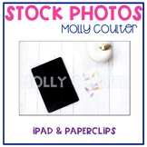 Stock Photo: iPad & Paperclips-Personal & Commercial Use