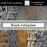 Brick Digital Papers - Brick Wall Backgrounds - Commercial Use