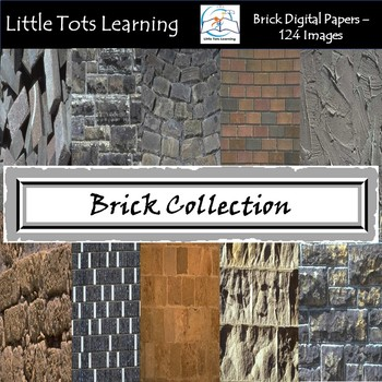 Brick Digital Papers - Brick and Stone - Commercial Use