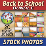 "Stock Photos - ""Back to School"" - School Supplies - Photographs - BUNDLE"