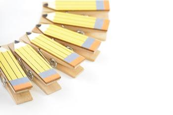 Stock Photos - Clothespin Pencils - Stock Images